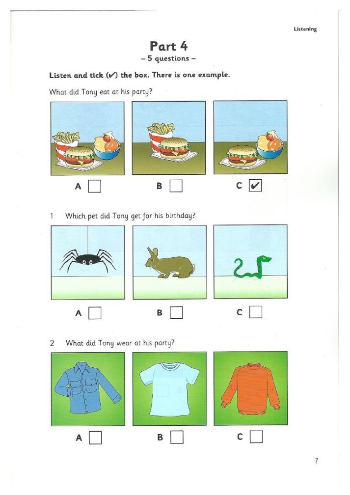 Starters practice tests pdf